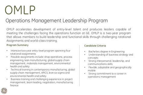 Ge Leadership Development Program Mba by Ge India Leadership Programs