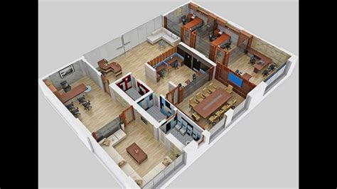3d office floor plan floor plan 3d office video vtarc youtube