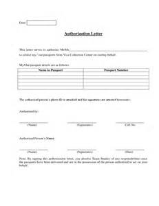 Authorization Letter Format For Collecting Documents Authorization Letter To Act On My Behalf Template