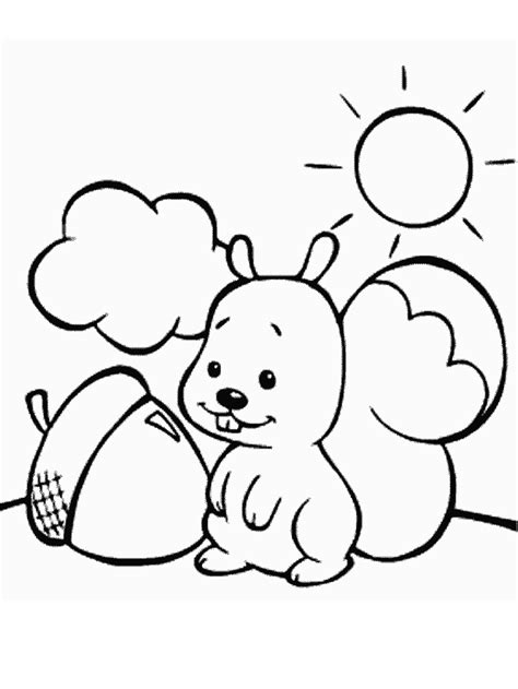 cute animal coloring pages for girls kids coloring