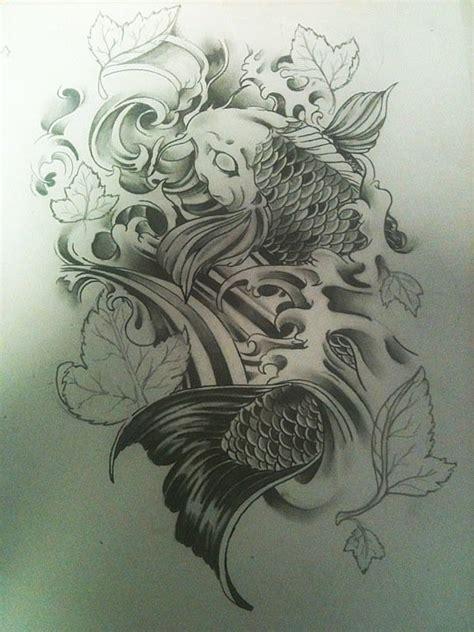 koi fish tattoo sketch koi fish tattoo design