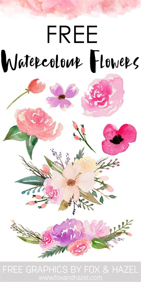watercolor vector tutorial free watercolor flower graphics from graphics foxes and