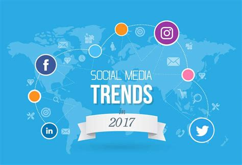 Trends 2017 by Social Media Trends In 2017 Infographic