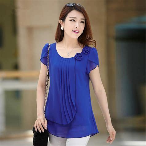 Baju Blus Blouse Dress Pesta Tank Top Halter Neck Korea Jepang Import 1 baby blue blouses and tops lace henley blouse