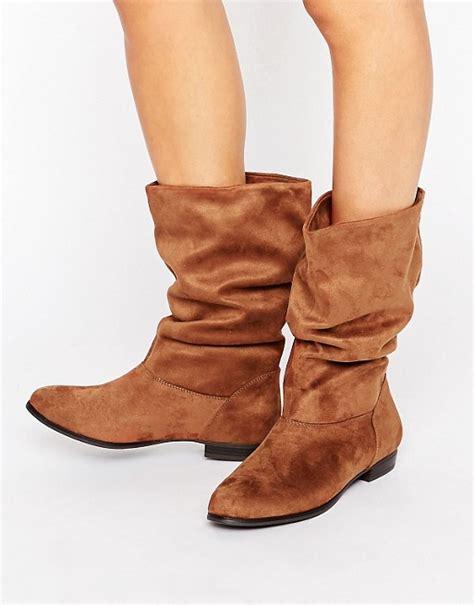 call it boots for call it call it gogali scrunch flat calf boots