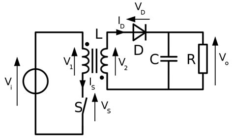 flyback transformer without diode flyback converter