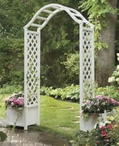 Arbor With Planters by Garden Planter Arbor Garden