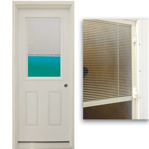 blinds for glass front doors 36 quot 1 2 lite exterior steel door unit with mini blinds