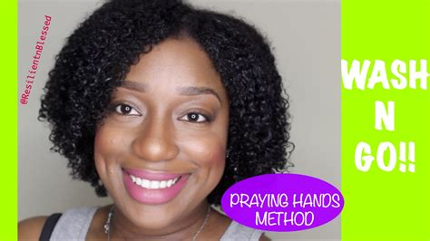 wash and go hair fat women wash n go 3c 4a hair the praying hands method