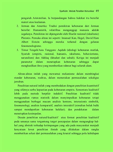 Filsafat Komunikasi Tradisi Dan Metode Fenomenologi syarifudin metode penelitian komunikasi 2