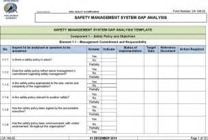 safety management system template the exle safety management system gap analysis can help