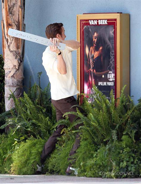 la la land sets la la land photos emma stone and ryan gosling on the set