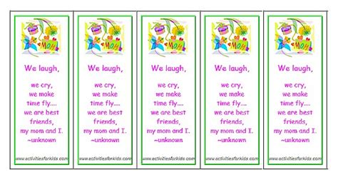 printable bookmarks for grandparents day printable mother s day bookmarks classroom printout for