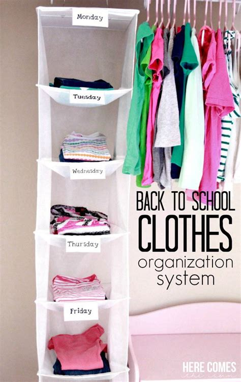 clothing organization back to school clothes organization system here comes