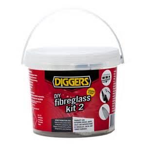 diggers 0 5m 178 fibreglass repair kit no 2 bunnings warehouse