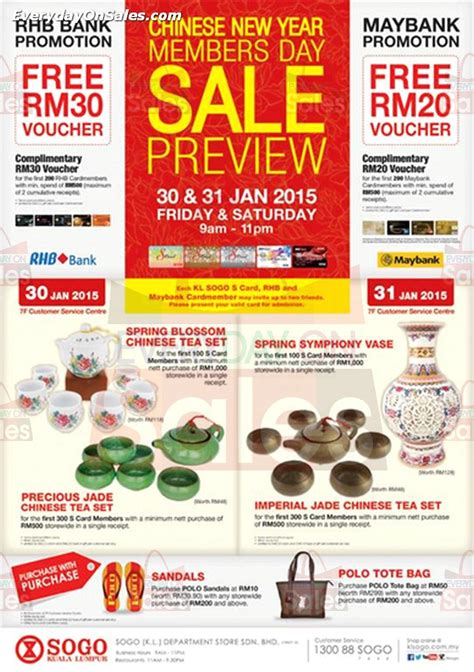 new year sales malaysia 2015 kl sogo new year members day sale preview