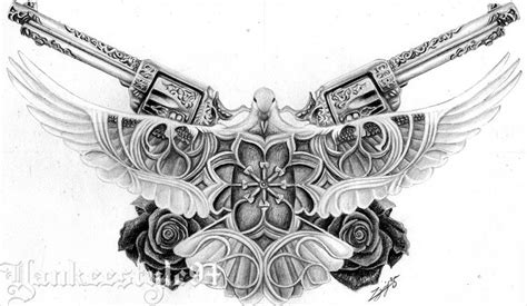 guns and roses tattoo designs white dove with guns n roses by yankeestyle94 on