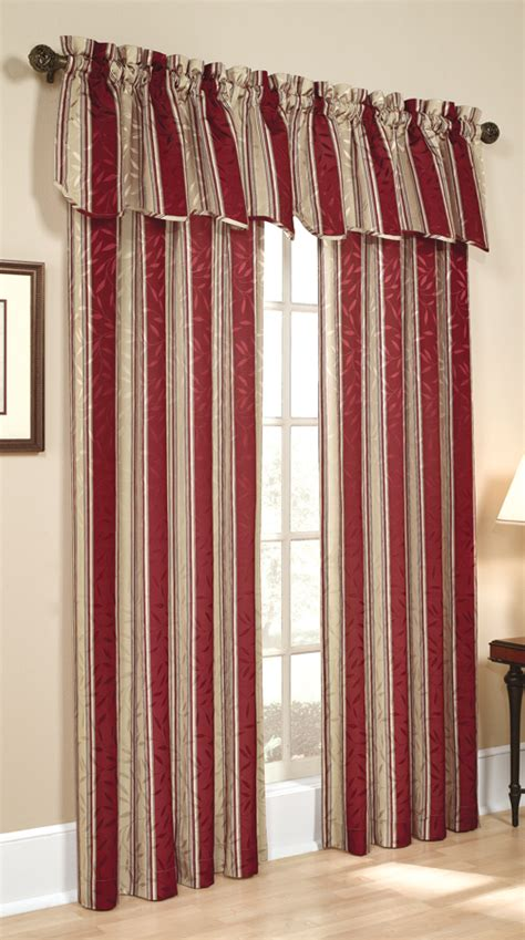 burgundy striped curtains whitfield stripe curtains chocolate view all curtains
