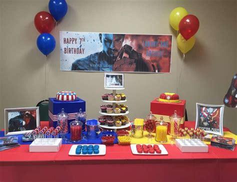 Giveaways For 7th Birthday Boy - civil war captain america vs iron man birthday quot twin boys civil war 7th birthday