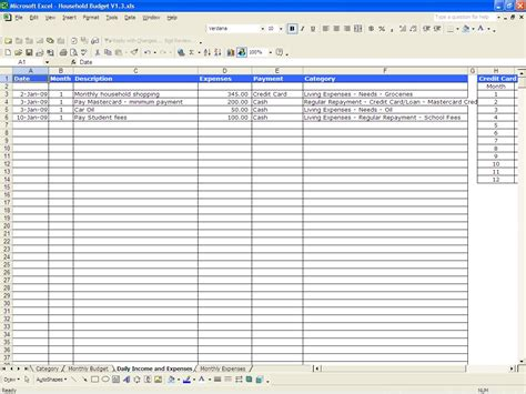 Expense Spreadsheet by Personal Spending Spreadsheet New Calendar Template Site