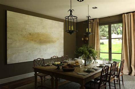 Chocolate Brown Dining Room by Doors Between Dining Room Design Ideas