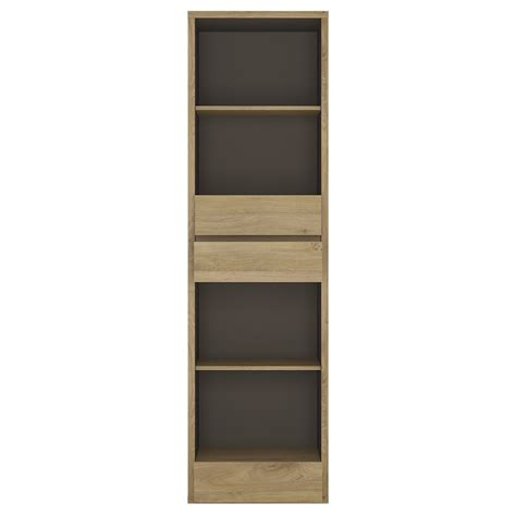 Narrow Bookcase With Drawers Shetland Narrow 3 Drawer Bookcase Shetland Living Room