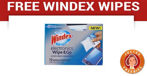 Free Electronic Giveaways - free windex electronic wipes giveaway julie s freebies