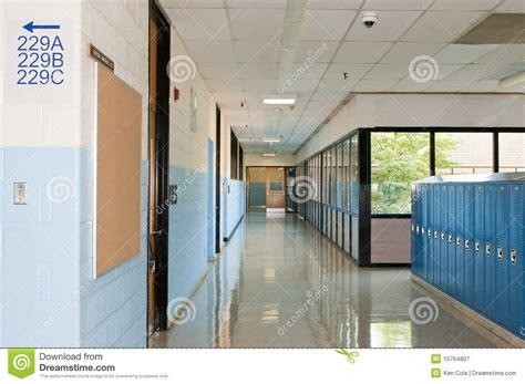 vestibulo en japones school hallway lockers royalty free stock photography