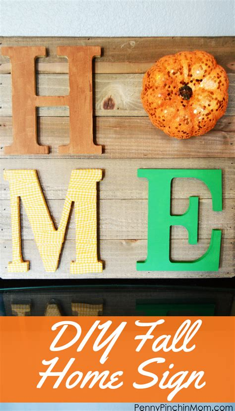 diy fall home sign easy to make fall home decor