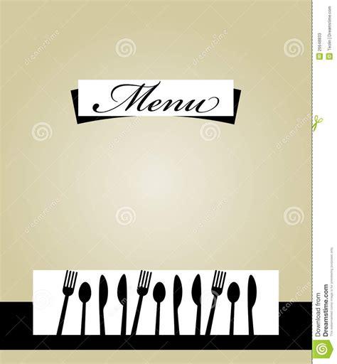restaurant menu template design stock  image