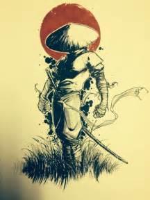 misc samurai colored sketch i drew up sometime ago 8x10