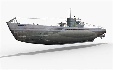 german u boats german u boat type vii 3d max