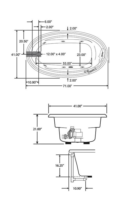 drop in bathtub dimensions faucet com j3d7242wrl1xxw in white by jacuzzi
