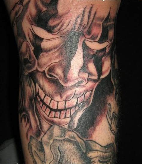 evil jester tattoo designs clown tattoos elaxsir