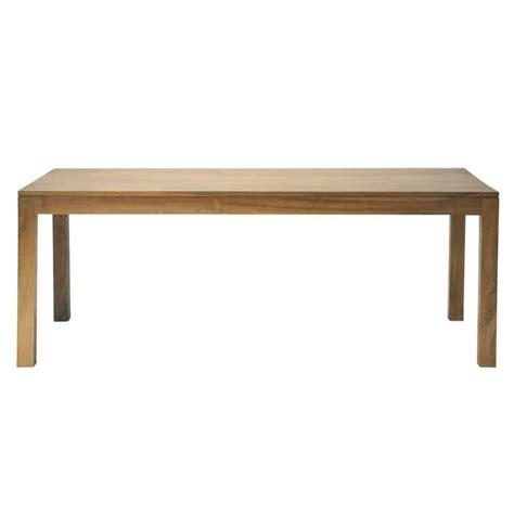 solid teak dining table solid teak dining table w 180cm amsterdam maisons du monde