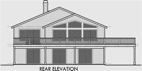 house plans for sloping lots in the rear sloped lot house plans