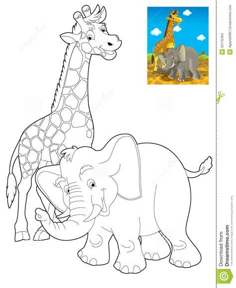 safari person coloring page cartoon safari coloring page for the children stock