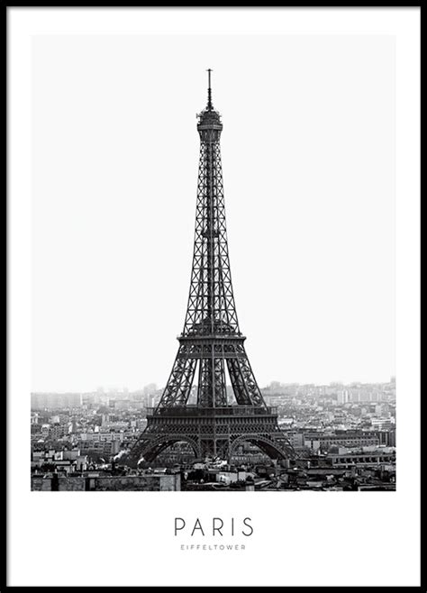 Living Room Gallery Wall by Black And White Poster With Eiffel Tower Paris Print