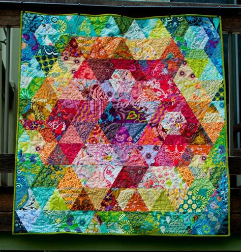 Patchwork Prism Quilt - 1000 images about hexagon quilts on