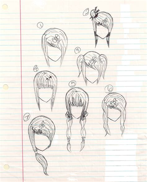 anime hairstyles for school anime hairstyles by plmethvin on deviantart