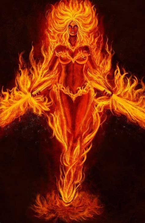 woman phoenix rising fire art flame art phoenix art
