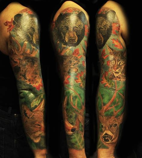 wildlife tattoo sleeve designs ideas and meaning