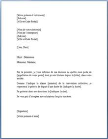 Exemple De Lettre De Démission Modele Lettre De Demission Type Document