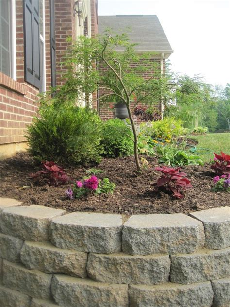 Garden Wall Diy Hometalk Diy Landscaping Retaining Wall