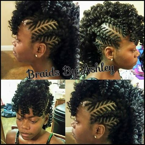 mohawk hairstyles with crochet hair crochet mohawk curls buns braids bobs knots and