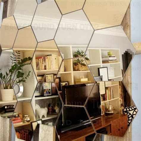 spiegel home decor regular hexagon honeycomb decorative 3d acrylic mirror