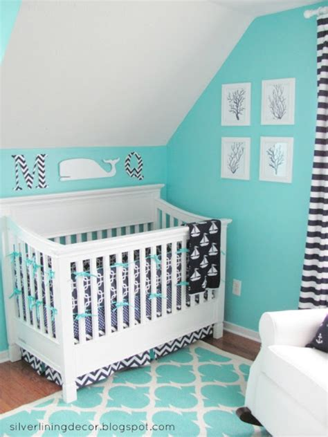 Turquoise Nursery Decor Bright Turquoise Nautical Nursery Design For A Boy Kidsomania