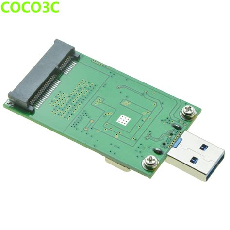 Msata To Usb 3 0 6gb S Ssd Enclosure usb 3 0 to msata ssd adapter mini pcie msata 6gb s drives card to usb converter card as usb3 0