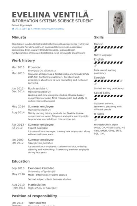Sales Agent Resume Sample by Promoter Resume Samples Visualcv Resume Samples Database