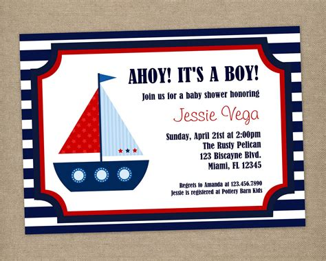 printable nautical invitation template 40th birthday ideas nautical birthday invitation templates